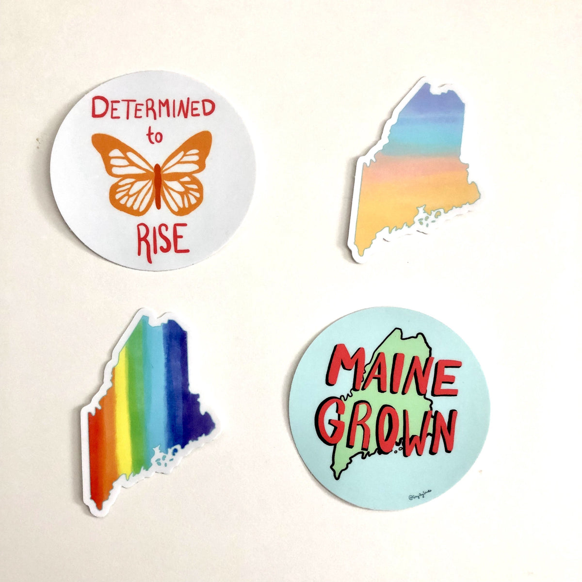 Maine sunset STICKER - Stickers & Magnets