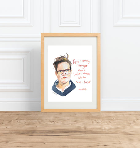 Julia Child || portrait & inspiring quote--Print