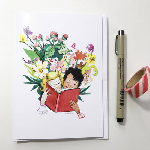 Garden Library, 5x7 greeting card