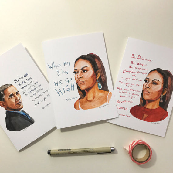Michelle Obama--Greeting Card