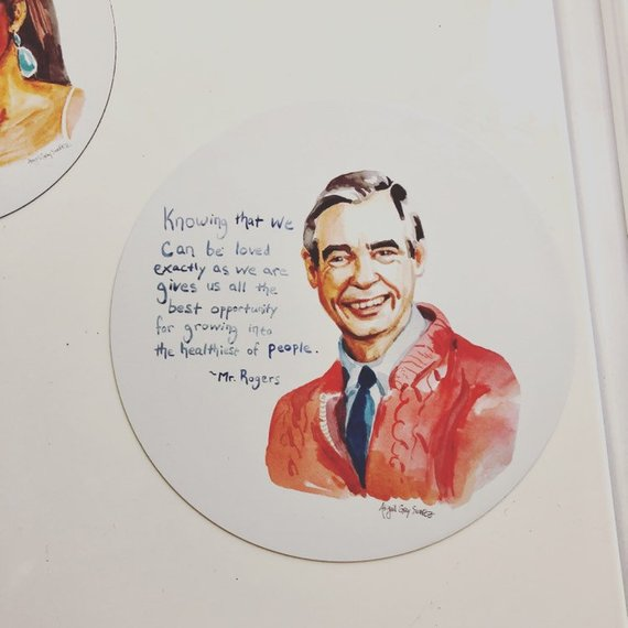 Mr Rogers, MAGNET, inspiring quote. Wont You by my Neighbor- Stickers & Magnets