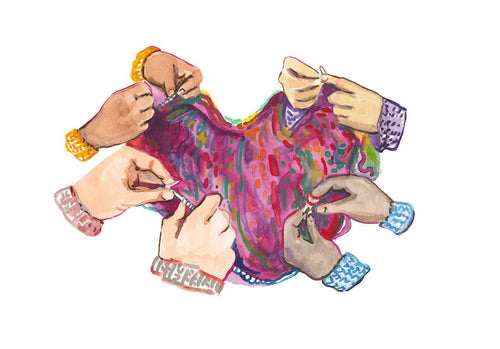 Friendship Knitting Circle--Print