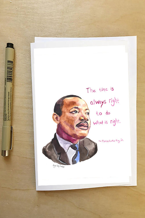 Martin Luther King Jr, quoted Portrait, greeting card, MLK--Greeting Card