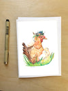 Mother Hen--Greeting Card