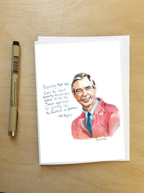 Mr Rogers Portrait--Greeting Card