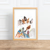 Winter Egg Harvest, backyard chickens || watercolor painting--Print