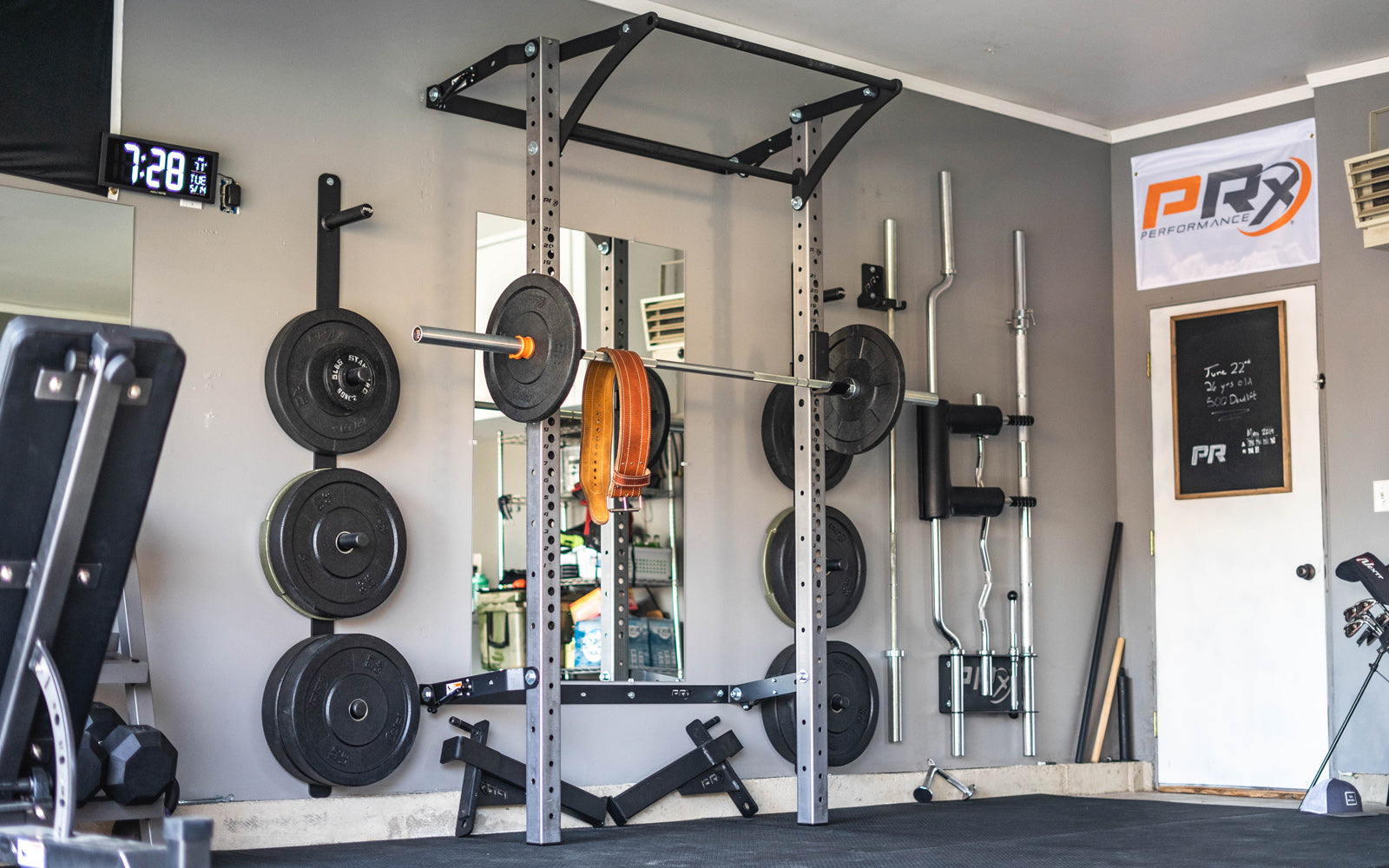 Rogue garage gym admirable rogue r infinity power rack half rack