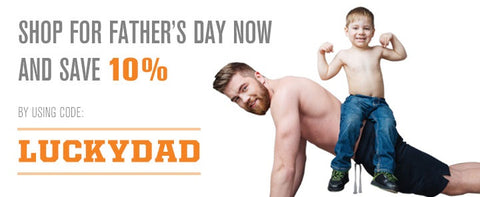 Save with Promo code LUCKYDAD through Father's Day