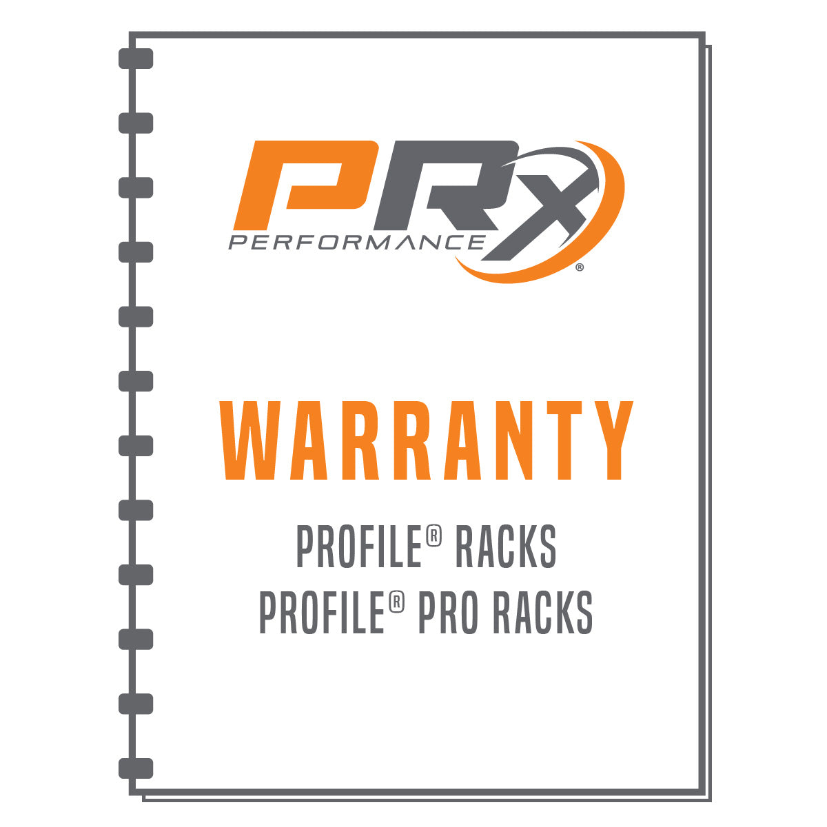 PRx Performance Profile and Profile PRO Rack Warranty