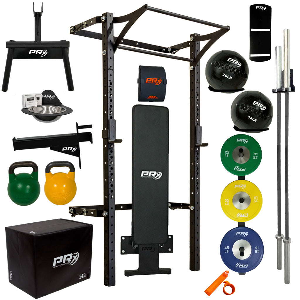 SWOLE Mates: His & Hers Profile® PRO Elite Package with Folding Bench