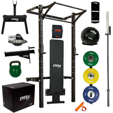 Men's Profile® PRO Elite Package with Folding Bench - Complete Home Gym