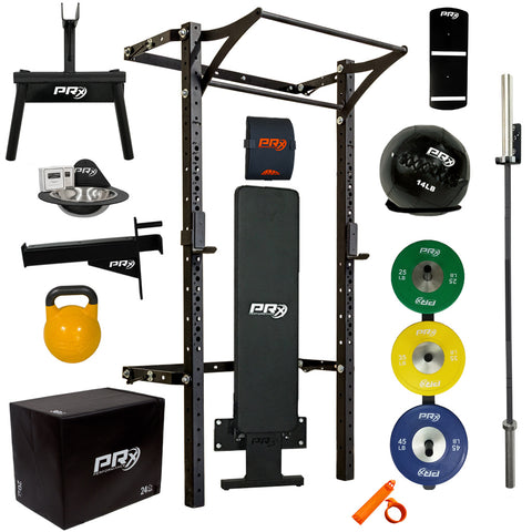 Women's Profile® PRO Elite Package with Folding Bench - Complete Home Gym
