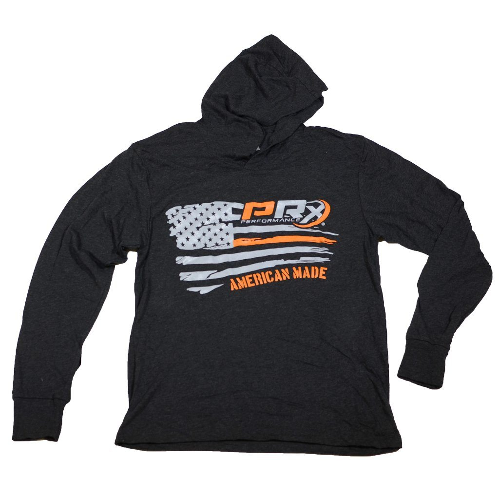 Unisex Hooded Long Sleeve T-Shirt - PRx Horizontal Flag