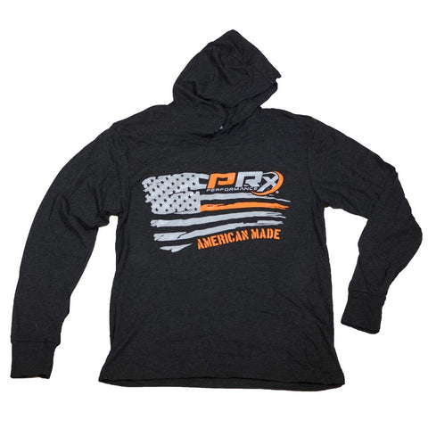 Men's Apparel - Unisex Hooded Long Sleeve T-Shirt - PRx Horizontal Flag