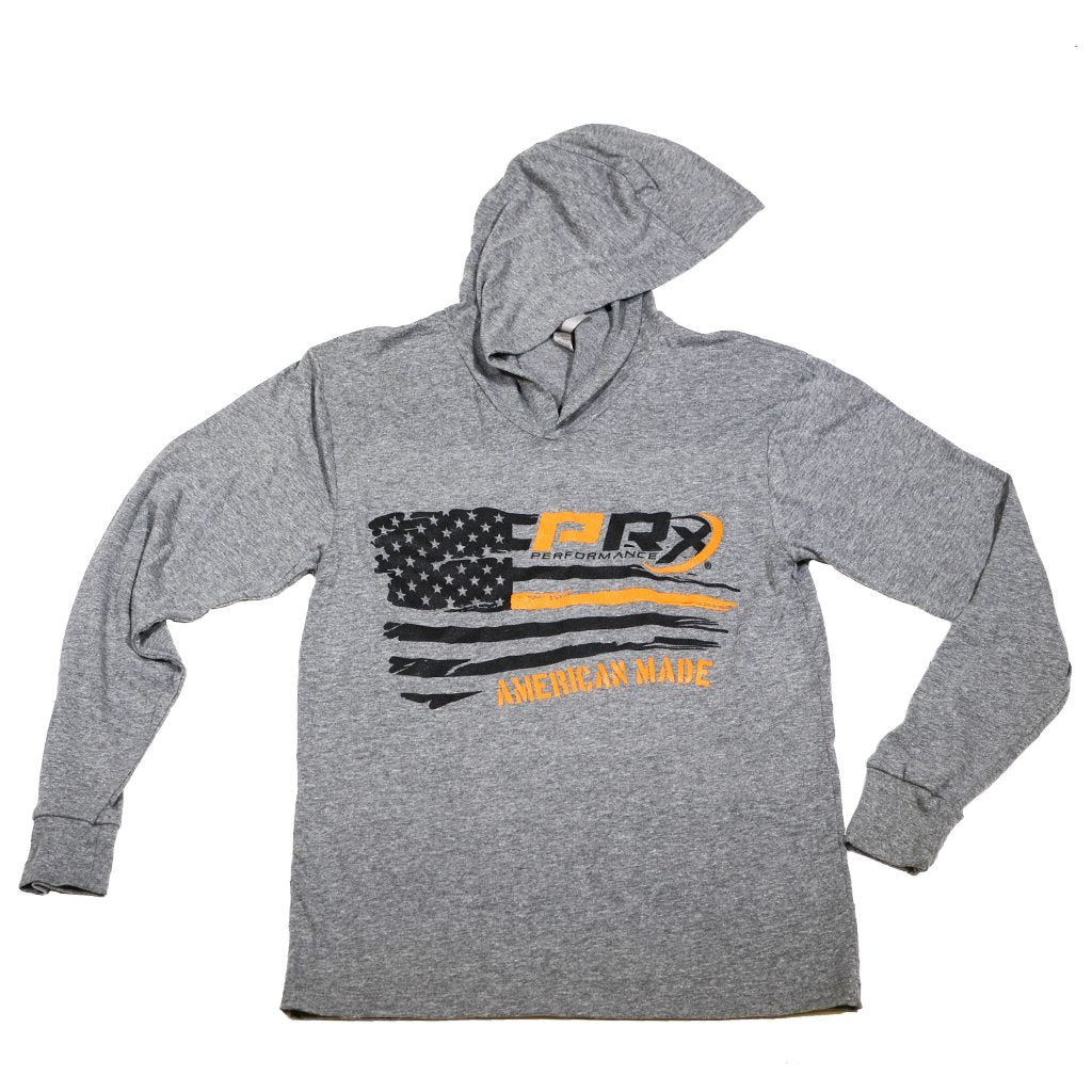 d2cf0d2edc9 Unisex Hooded Long Sleeve T-Shirt - PRx Horizontal Flag