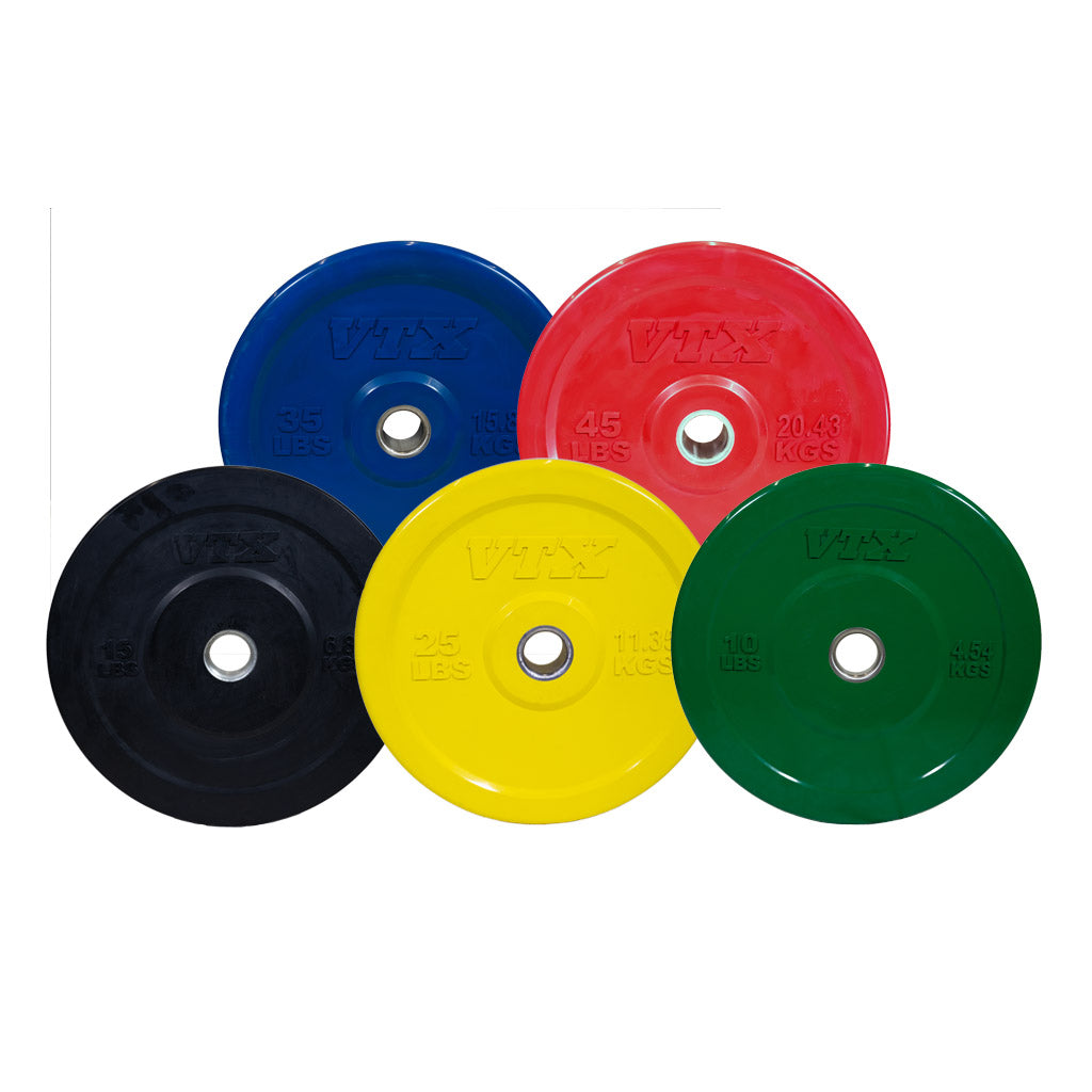 VTX Solid Rubber Bumper Plates PAIRS