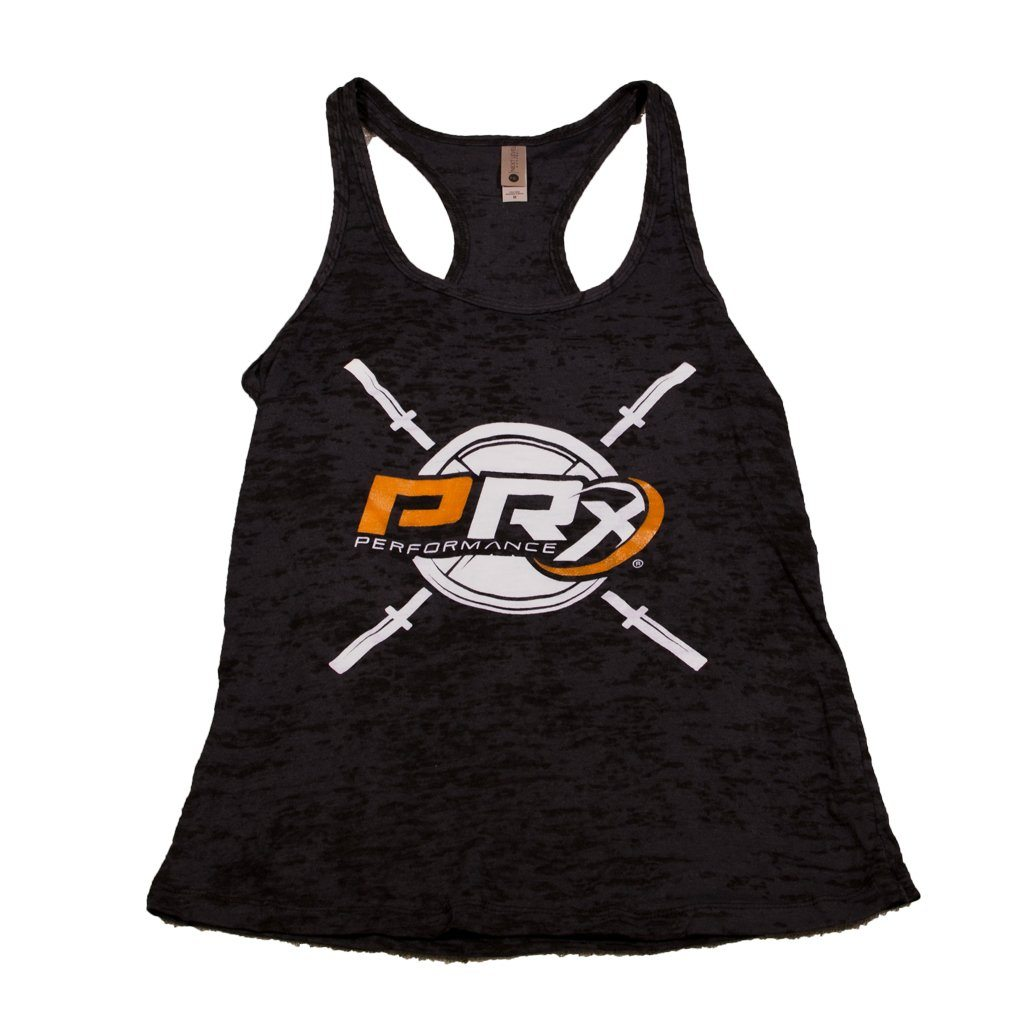 Women's Burnout Racerback Tank - PRx Criss Cross Barbell