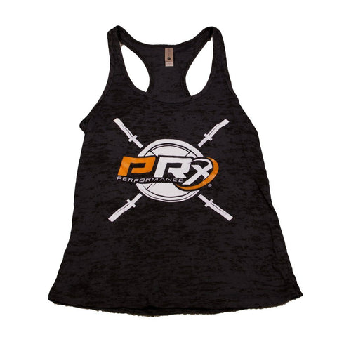 Women's Apparel - Women's Burnout Racerback Tank - PRx Criss Cross Barbell