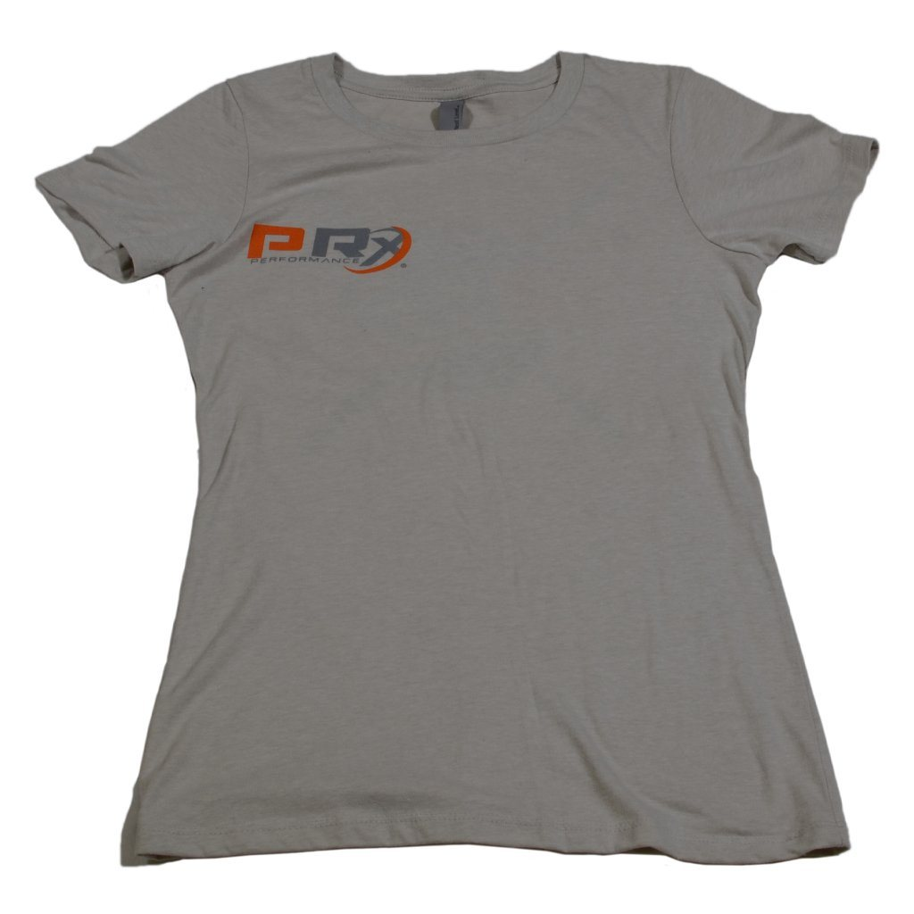 Women's Fitted Crew T-Shirt - PRx Criss Cross Barbell