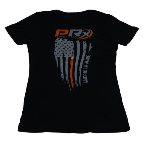 Women's Apparel - Women's Fitted Crew T-Shirt - PRx Vertical Flag