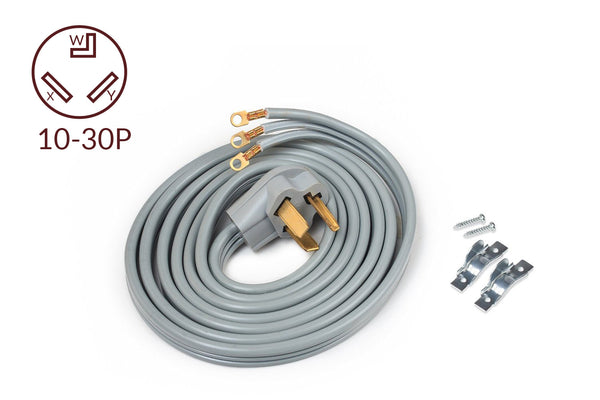 ACUPWR 3-wire Dryer Power Cord 10' with Safe Power Coating Technology, Comes with Volt Connect Hardwire Kit