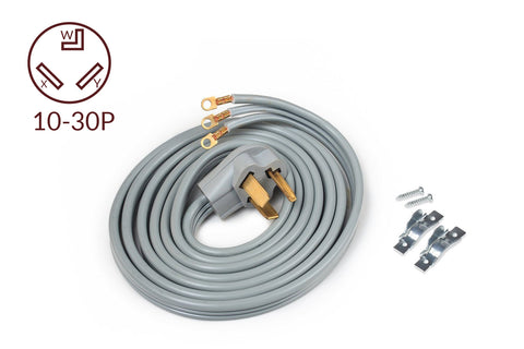 ACUPWR 3-wire Dryer Power Cord 10' with Safe Power Coating Technology, Comes with Volt Connect Hardwire Kit - ACUPWR USA