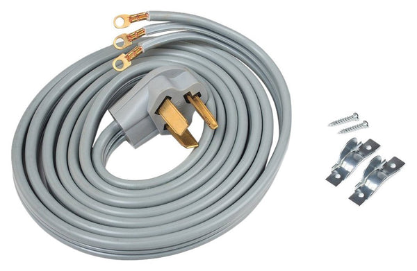 ACUPWR Three-Wire 10' Dryer Power Cord with Hardware Kit – A103010