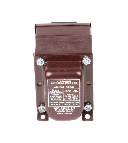 ACUPWR red 200-Watt Step-Down Transformer (AD-200IEC)