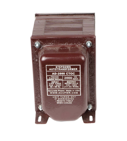 ACUPWR red 2000-Watt Step-Down Transformer (AD-2000CTOC)
