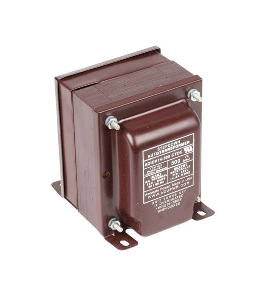 500 Tru-Watts™ UL-approved Step Down Voltage Transformer with IEC C13 Input - Use 110-120-Volt appliances in 220-240-Volt countries – ADICH14-500 CTOC IEC