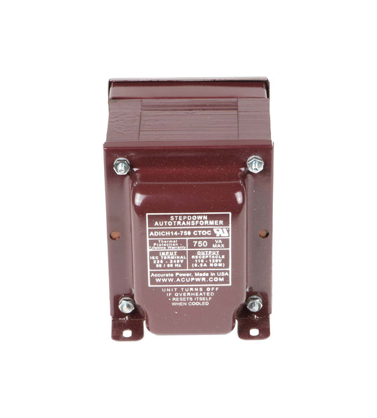 750 Tru-Watts™ UL-approved Step Down Voltage Transformer – ADICH14-750 CTOC IEC
