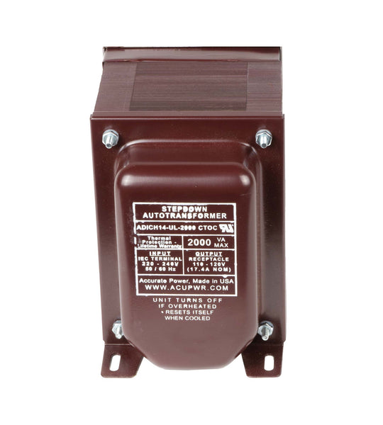 ACUPWR red 2000-Watt Step-Down Transformer (ADICH14-2000)