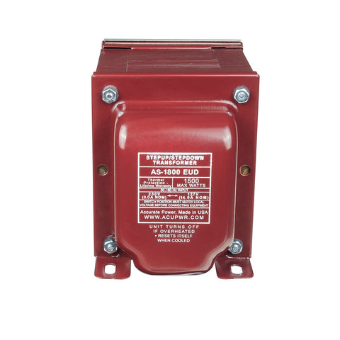 1800 Tru-Watts™ Step Up/Step Down Voltage Transformer - Use 127-Volt Appliances in 220-240-Volt Countries, and Vice-Versa – AS-1800EUD - ACUPWR USA  - 11