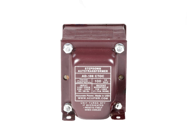 ACUPWR red 100-Watt Step-Down Transformer (AD-100IEC)