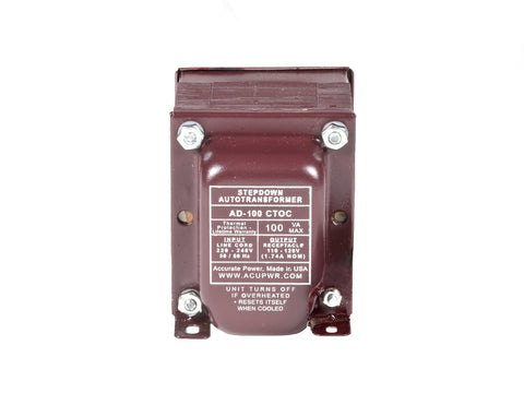 100 Tru-Watts™ Step Down Voltage Transformer with IEC C13 Input - Use 110-120-Volt appliances in 220-240-Volt countries – AD-100IEC