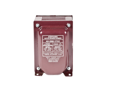 2500 Tru-Watts™ Step Down Voltage Transformer with IEC C13 Input - Use 110-120-Volt appliances in 220-240-Volt countries – AD-2500IEC