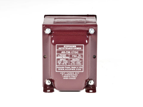 750 Tru-Watts™ Step Down Voltage Transformer with IEC C13 Input - Use 110-120-Volt appliances in 220-240-Volt countries – AD-750IEC - ACUPWR USA  - 1