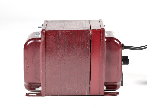 ACUPWR red 1500-Watt Refrigerator Voltage Transformer side view