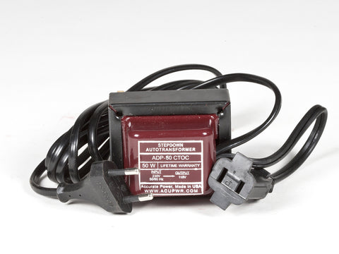 50 Watt Step Down Transformer – Use 110-120 Volts Appliances in 220-240 Volts Countries - ACUPWR USA  - 1