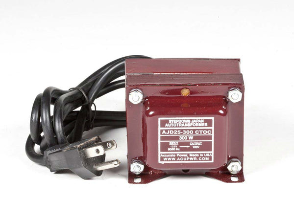 AJD25-300 Tru-Watts™ 125 Volts to 100 Volts Step Down Transformer - Use 100-Volt Japanese Electrical Devices in USA/Canada