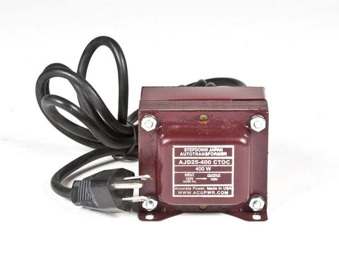 AJD25-400 Tru-Watts™ 125 Volts to 100 Volts Step Down Transformer - Use 100-Volt Japanese Electrical Devices in USA/Canada