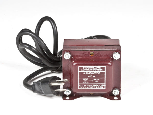 400 Tru-Watts™ 110-120 Volts to 100 Volts Step Down Transformer - Use 100-Volt Japanese Electrical Devices in USA/Canada – AJD-400 - ACUPWR USA  - 1