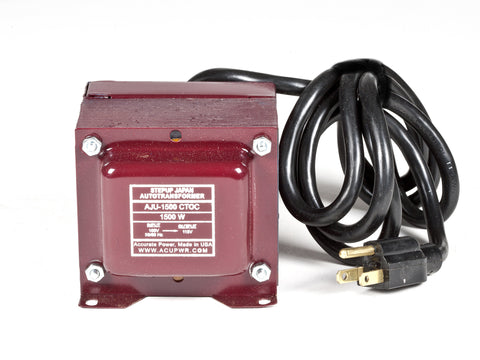 1500 Watt USA/Canada to Japan Step Up Transformer – Use 110-120 Volts Appliances in Japan AJU-1500 - ACUPWR USA  - 1