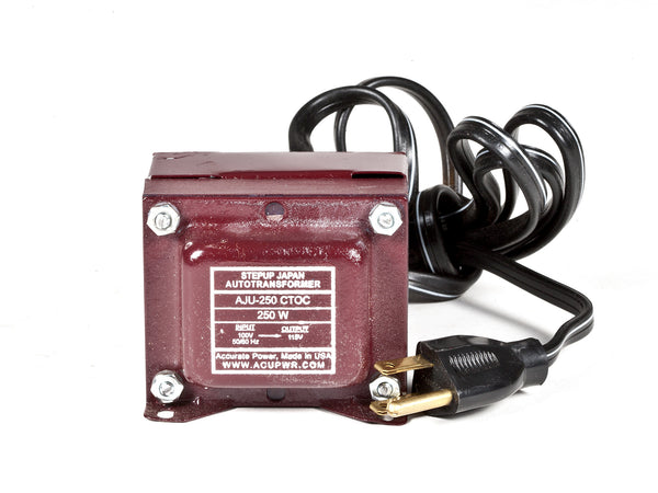 250 Tru-Watts™ 100 Volts to 110-120 Volts Step Up Transformer - Use American/Canadian Electrical Devices in Japan – AJU-250 - ACUPWR USA  - 1