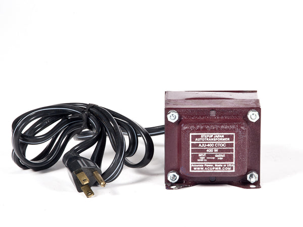 400 Tru-Watts™ 100 Volts to 110-120 Volts Step Up Transformer - Use American/Canadian Electrical Devices in Japan – AJU-400 - ACUPWR USA  - 1