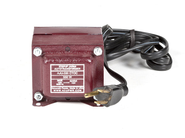 550 Tru-Watts™ 100 Volts to 110-120 Volts Step Up Transformer - Use American/Canadian Electrical Devices in Japan – AJU-550 - ACUPWR USA  - 1