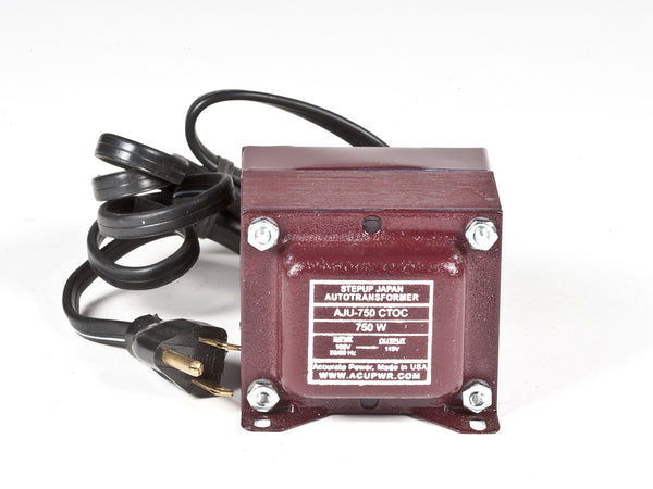 ACUPWR Tru-Watts™ 750-Watt 100 Volts to 110-120 Volts Step Up Transformer - Use American/Canadian Electrical Devices in Japan – AJU-750 - ACUPWR USA  - 1