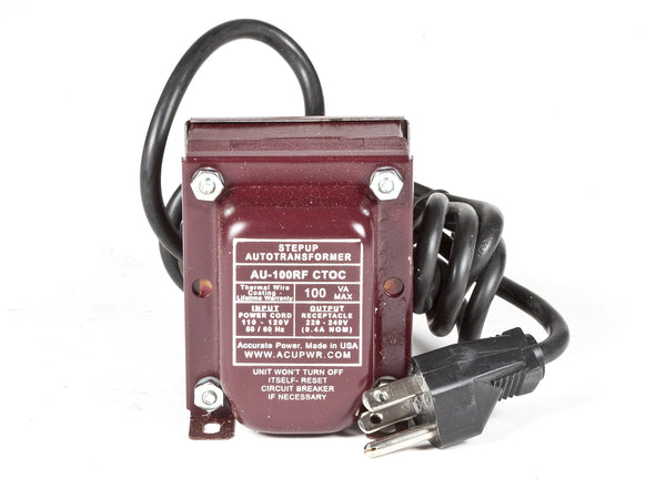 ACUPWR Tru-Watts™ 100-Watt Step Up Transformer Converter - Use 220 Volts appliances in 110 Volts countries - AU-100 - ACUPWR USA  - 1