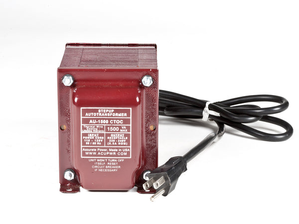 1500 Tru-Watts™ Step Up Transformer Converter - Use 220 Volts appliances in 110 Volts countries - AU-1500 - ACUPWR USA  - 1