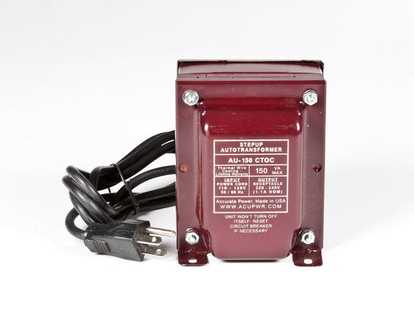 ACUPWR Tru-Watts™ 150-Watt Step Up Transformer Converter - Use 220 Volts appliances in 110 Volts countries - AU-150 - ACUPWR USA  - 1